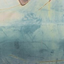 "Untitled (blue and green abstract), 2008, photograph, 26"" x 40"", mounted on aluminum"