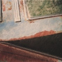 "Untitled (Blue & Green & Rust Triangular Abstraction), 2006, photograph, 26"" x 40"", mounted on aluminum"